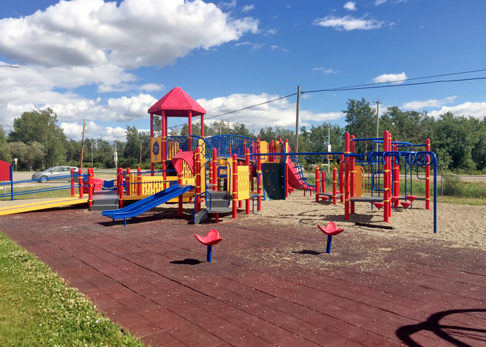 Baldonnel Playground with rubber surfacing
