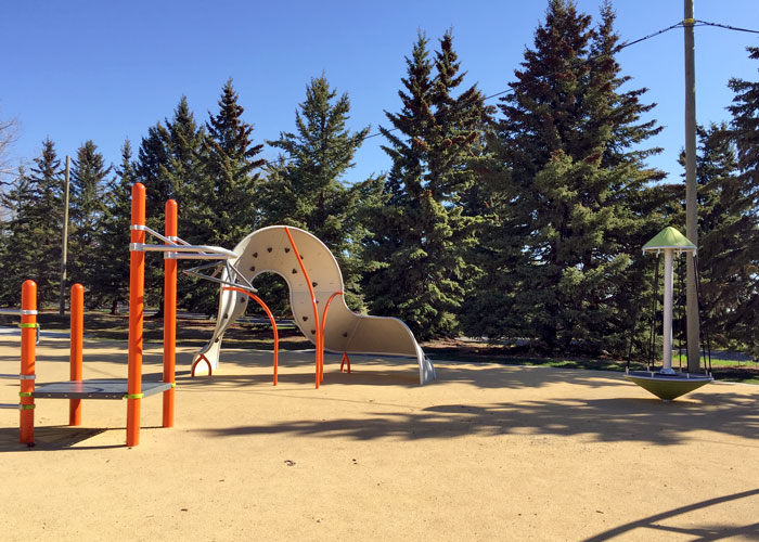 CUrrie Barracks playground mobius climber