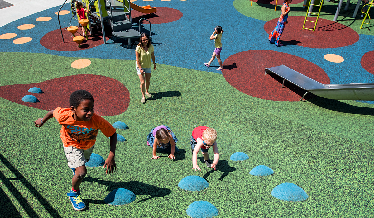 Rubber Flooring Pour In Place Playground Surfacing Non