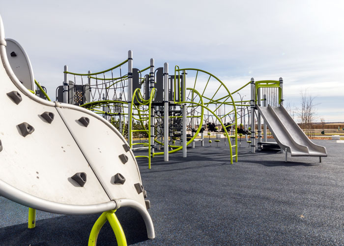 Carrington Greenway playground with mobius climber