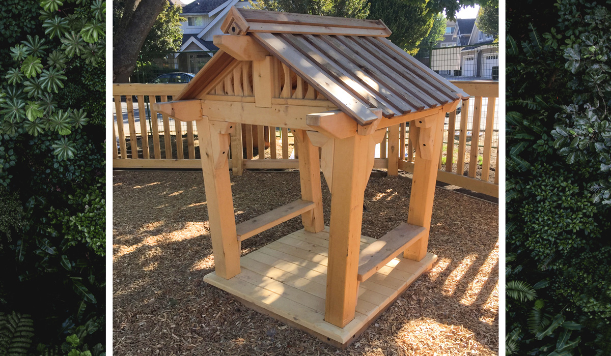 Natural Playground Playhouses Yellow Cedar Wood With