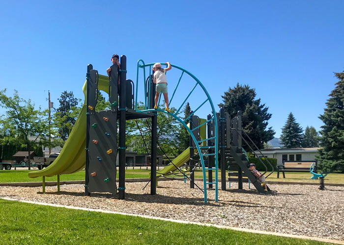 Dupuis Park playground with climbing structures