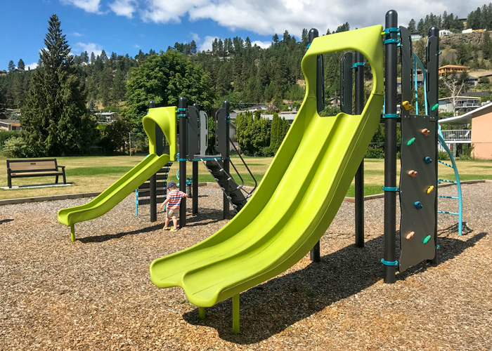 Dupuis Park play structure with slides
