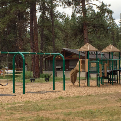 Kettle River playground with swings