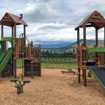 Okanagan Indian Band playground with slides