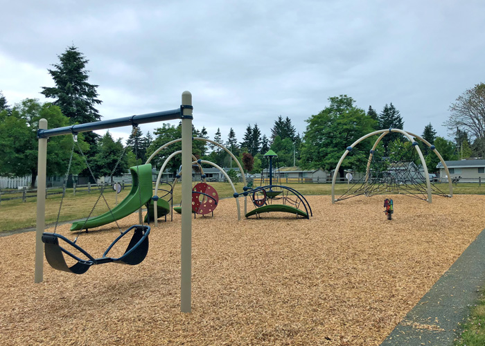 Harbour Wood playground with Friendship Swing