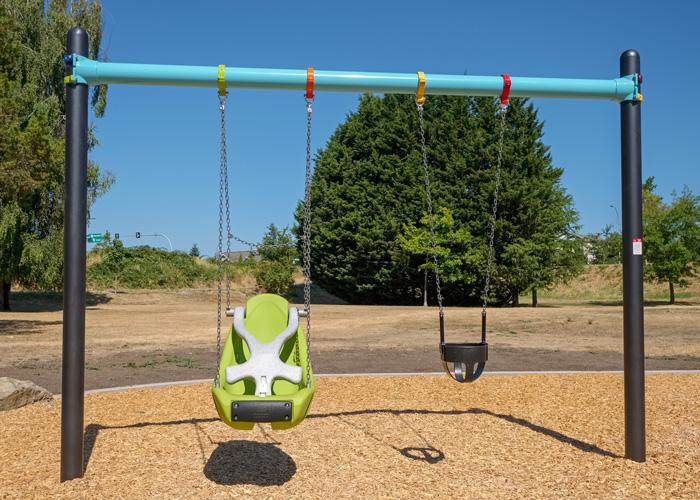 Rainbow Park swings