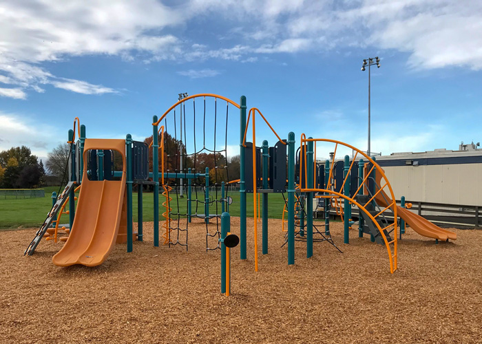 Blundell playground with climbing structures