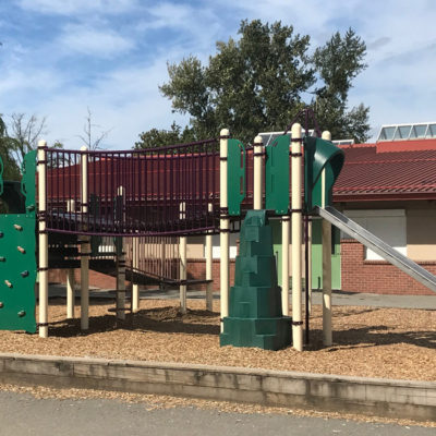 Coyote Creek Playground with climbing structures and slides