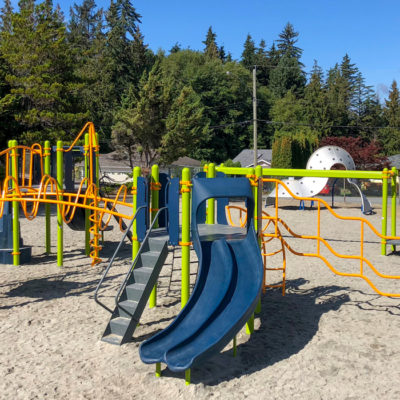 Edgehill Elementary with slide and climbing structures