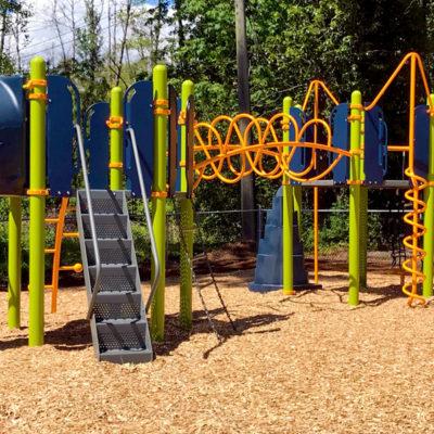 University Chapel playground with slides
