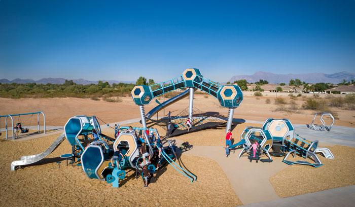 Hedra Line of Playground equipment