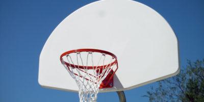 basketball hoop and backboard