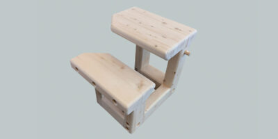small wooden desk for outdoors