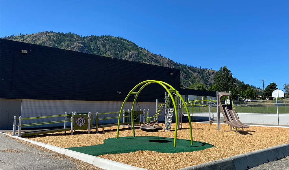 RL Clemitson's inclusive playground design with swings, ramps, and slides
