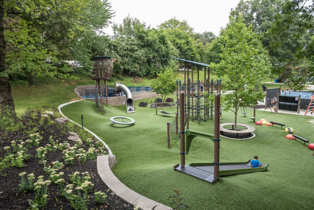 Green Playground Designed by habitat Systems
