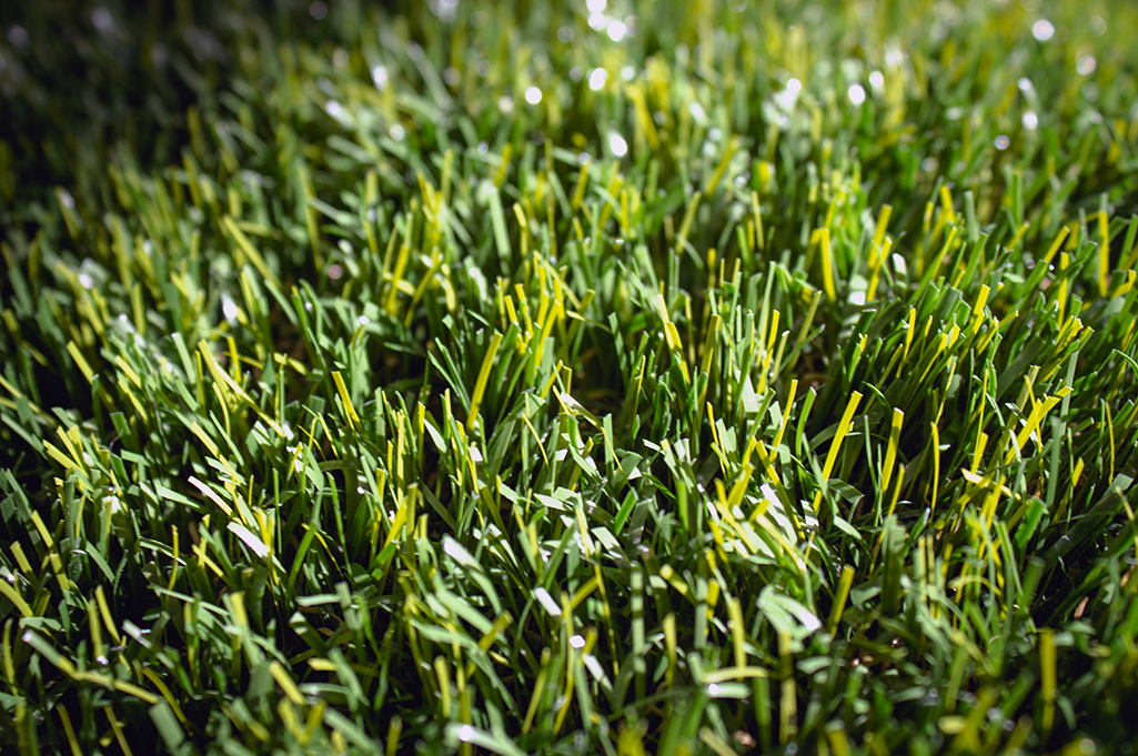 Close up of artificial turf for playgrounds